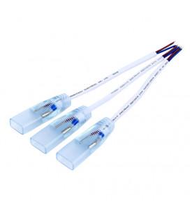 Коннектор питания для неона 12В, 2 контакта, 8х14,8х16 мм