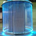Световой оптоволоконнный кабель бокового свечения с насечками (водопад), d 1 мм