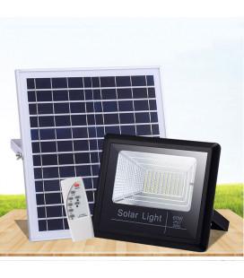 Светодиодный прожектор на солнечной батарее 60 Вт, IP65, пульт