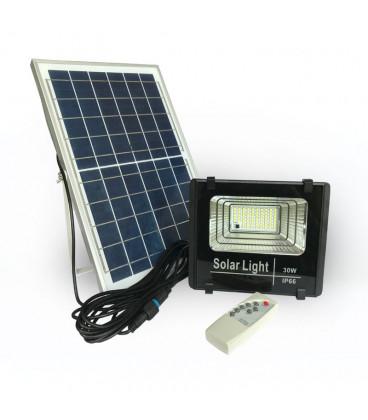 Светодиодный прожектор на солнечной батарее 30W