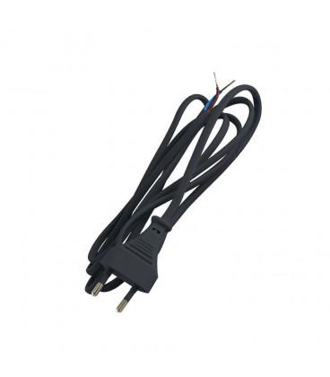 Сетевая вилка 220В с проводом, цвет черный, 70 см