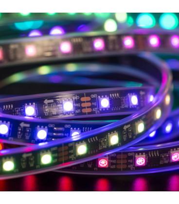 Программируемая лента WS 2811, черная подложка, RGB 60LED-IP67-12V 5м.