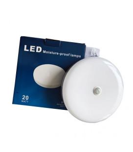 Влагозащищенный ЖКХ светильник с датчиком движения, 20 Вт, круглый