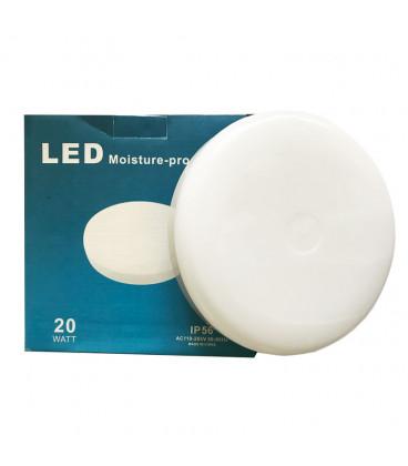 Влагозащищенный ЖКХ светильник, 20 Вт, круглый