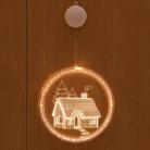 3D фигура-светильник «ДОМИК», на батарейках