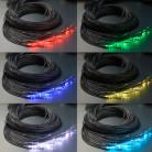 Световой оптоволоконный кабель термостойкий для сауны, готовый жгут 100 шт, длина 5 м, d 1 мм