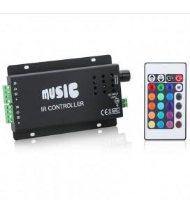 RGB Контроллер Аудио Music IR, 12-24 В, 12 A, 144-288 Вт