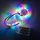 Светодиодная лента SMD 2835, 60 диодов, RGB, IP65 c боксом для батареек, с контроллером, 1 м, Люкс