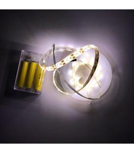 Светодиодная лента SMD 2835, 60 диодов, 5В, IP65 c боксом для батареек, 1 м, Люкс