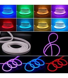 Led гибкий неон 220 Вольт SMD5050, 60 диодов, 10х21 мм, цвет: RGB, IP67