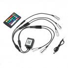 Bluetooth RGB мини источник для оптоволокна, 5 голов, (D3 мм), 12В, с пультом