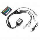 Bluetooth RGB мини источник для оптоволокна, 4 головы, (D8 мм), 12В, с пультом