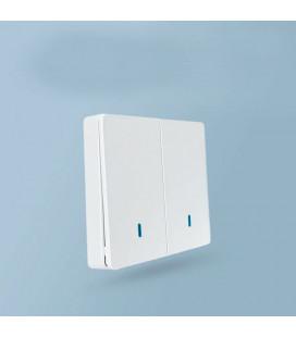 Выключатель-передатчик двухклавишный, Smart серия, белый