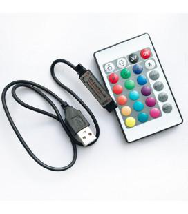 Мини USB ИК контроллер, 5В , пульт 24 кнопки