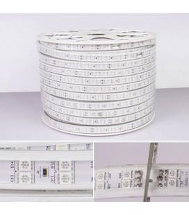 Светодиодная лента RGB 5050, 220В, 96 диодов, 2-х рядная, 15 мм, Люкс