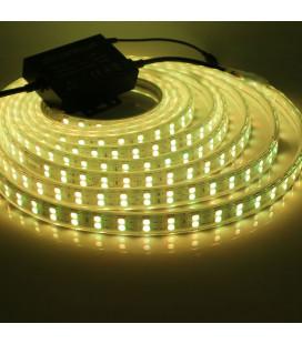 Светодиодная лента RGB 5050, 220В, 96 диодов, 2-х рядная, 15 мм, ЭКОНОМ