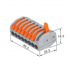 Универсальная многоразовая 8-проводная клемма 0,08-2,5 (4) мм2