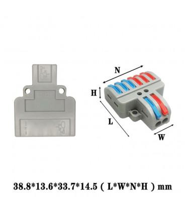Многоразовая клемма 2/6 контакта L+N/3L+3N