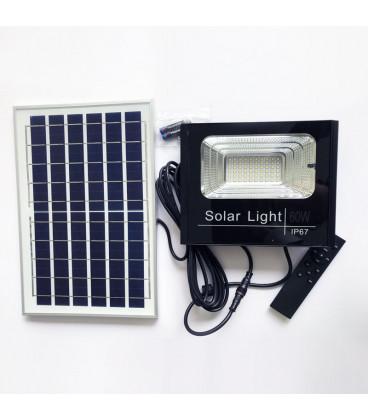 Светодиодный прожектор на солнечной батарее 60 Вт