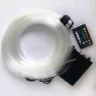 Оптоволоконнный кабель Звездное небо, 0,75 мм, жгут, 5 м с контроллером RGBW, 16 Вт, пульт 28 кнопок