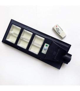 LED прожектор на столб (консольный светильник) на солнечной батарее, 150 Вт, цвет белый