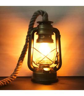 Светильник «Старинная керосиновая лампа» , темная бронза