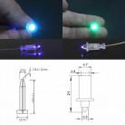 Пластиковый концевой зажим для светового оптоволоконного кабеля 0,75мм/1мм