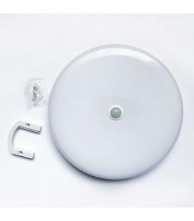 Влагозащищенный ЖКХ светильник с датчиком движения, 30 Вт, круглый