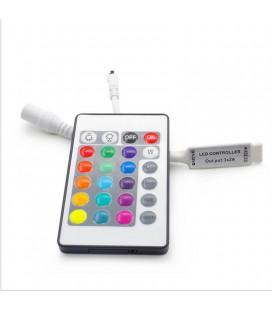 Мини ИК контроллер RGB,  пульт 24 кнопки