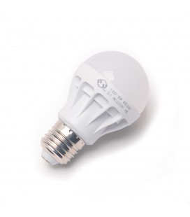 Лампа светодиодная E27-5W, 220В, матовый шар