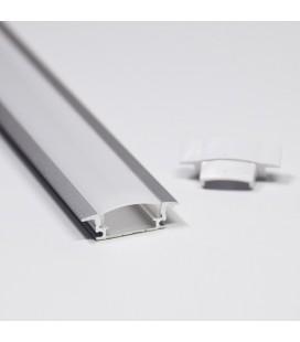 Врезной профиль (1м)+молочный акриловый экран + 2 заглушки
