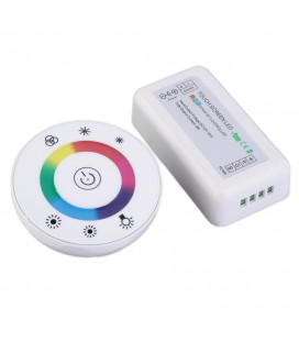 RGB Контроллер Touch White-Ring RF, 12-24 В, 18 A, 216-432 Вт