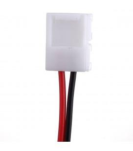 соединитель  для одноцветной ленты шириной 8 мм (3528,2835)   с проводом 10-15 см односторонний