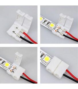 соединитель для одноцветной ленты шириной 10 мм (5050 , 5630, 7020) с проводом 10-15 см двухсторонний