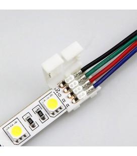 соединитель для ленты RGB 10 mm(5050) c проводом 10-15 см односторонний