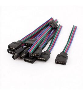 безпаечный соединитель для подключения ленты RGB с проводом 0,5 м