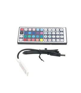 Мини USB RGB контроллер 5-24 вольт, пульт 44 кнопки