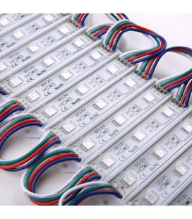 Светодиодный модуль 12V 5050 3led module  RGB (14 lm/led)3