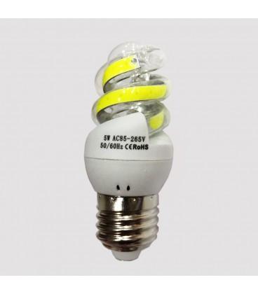 LED COB лампа форма спираль 5 Ватт