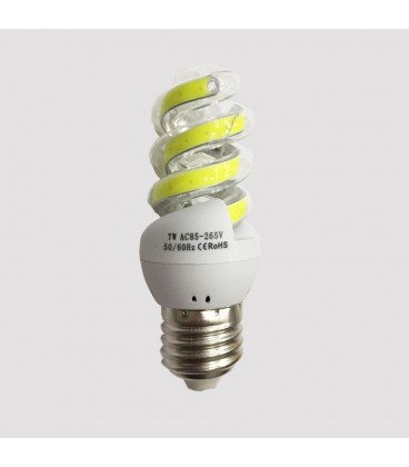 LED COB лампа форма спираль 7 Ватт