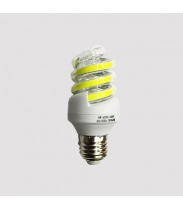 LED COB лампа форма спираль 9 Ватт
