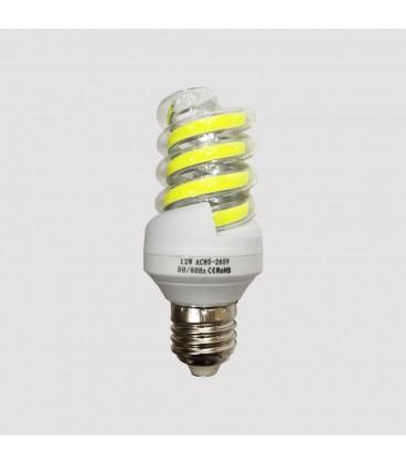 LED COB лампа форма спираль 12Ватт