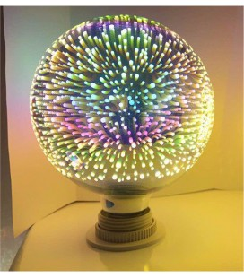 LED лампа шар с 3D эффектом, Е27
