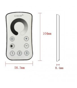 Touch Радио диммер для одноцветной ленты, 2,4G, 3-х зонный