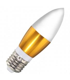 LED свеча E27-4W теплый