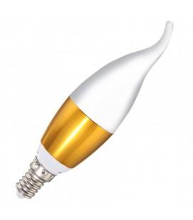 Лампа светодиодная свеча фигурная E14-5W