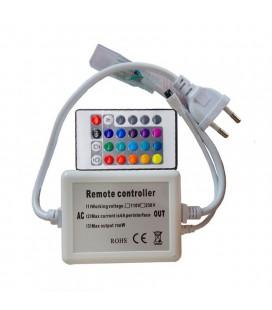 ИК контроллер  для  Led ленты 220 вольт, пульт 24 кнопок