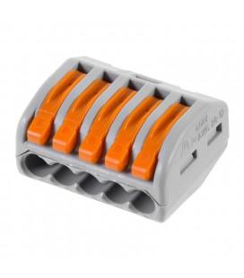 Универсальная многоразовая 5-проводная клемма 0,08-2,5(4)мм2