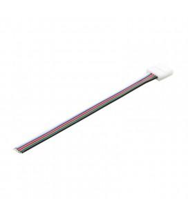 соединитель  для  ленты RGB+W 10 мм  c проводом 10-15 см односторонний
