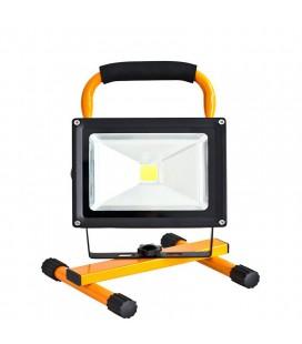 Переносной светодиодный прожектор на стойке 20Вт с аккумулятором